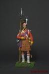 Сержант шотландской пехоты, 1815 год - Оловянный солдатик коллекционная роспись 54 мм. Все оловянные солдатики расписываются художником вручную