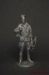 Краснофлотец, морская пехота, 1944-45 гг. СССР - Оловянный солдатик. Чернение. Высота солдатика 54 мм