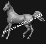 Лошадь №20 - Фигурка, смола (набор для сборки из 4 деталей). Размер 54 мм (1:30)