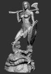 Миры Фэнтези: Варварша - Фигурка, смола (набор для сборки). Размер 54 мм (1:30)