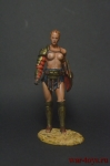 Миры Фэнтези: Гладиатриса - Оловянный солдатик коллекционная роспись 54 мм. Все оловянные солдатики расписываются художником вручную