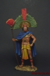 Монтесума II, Император Ацтеков, 1520 - Оловянный солдатик коллекционная роспись 54 мм. Все оловянные солдатики расписываются художником вручную