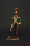 Трубач французский линейный улан 6-го полка 1814 года - Оловянный солдатик коллекционная роспись 54 мм. Все оловянные солдатики расписываются художником вручную