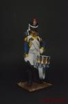 Фузелер барабанщик 42-го полка 1807 г. - Оловянный солдатик коллекционная роспись 54 мм. Все оловянные солдатики расписываются художником вручную