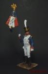 Знаменосец 1808 - Оловянный солдатик коллекционная роспись 54 мм. Все оловянные солдатики расписываются художником вручную