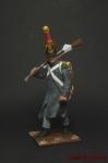 Вольтижер в пальто 1814 - Оловянный солдатик коллекционная роспись 54 мм. Все оловянные солдатики расписываются художником вручную
