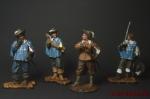 Набор оловянных солдатиков - Д артаньян и три мушкетёра - Набор оловянных солдатиков - Мушкетеры 4 шт. Коллекционная роспись