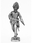 Офицер австрийского гренадерского полка 1805 год - Оловянный солдатик. Чернение. Высота солдатика 54 мм