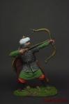 Мусульманский воин-лучник, 12-13 вв. - Оловянный солдатик коллекционная роспись 54 мм. Все оловянные солдатики расписываются художником вручную