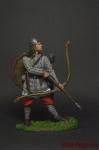 Викинг-лучник, 9-11 вв. - Оловянный солдатик коллекционная роспись 54 мм. Все оловянные солдатики расписываются художником вручную