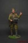 Красноармеец-связист, пехота Красной Армии 1943-45 СССР - Оловянный солдатик коллекционная роспись 54 мм. Все оловянные солдатики расписываются художником вручную